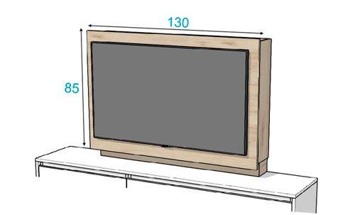 Medidas del mueble panel TV modelo 103