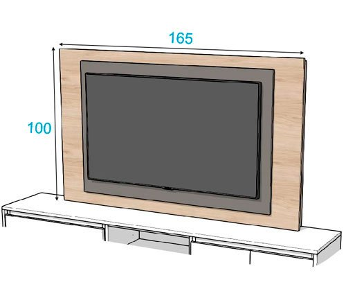 Las medidas que tiene el panel TV 105 de 165cm