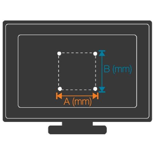 Medidas del vesa para televisión colocada en el panel TV 121