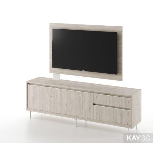 Mueble y panel TV Free Standing del catálogo KAY 3.0