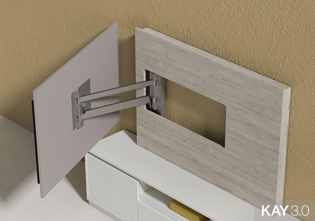 Panel TV giratorio modelo 105 de 145x100 cm abierto del catálogo KAY 3.0