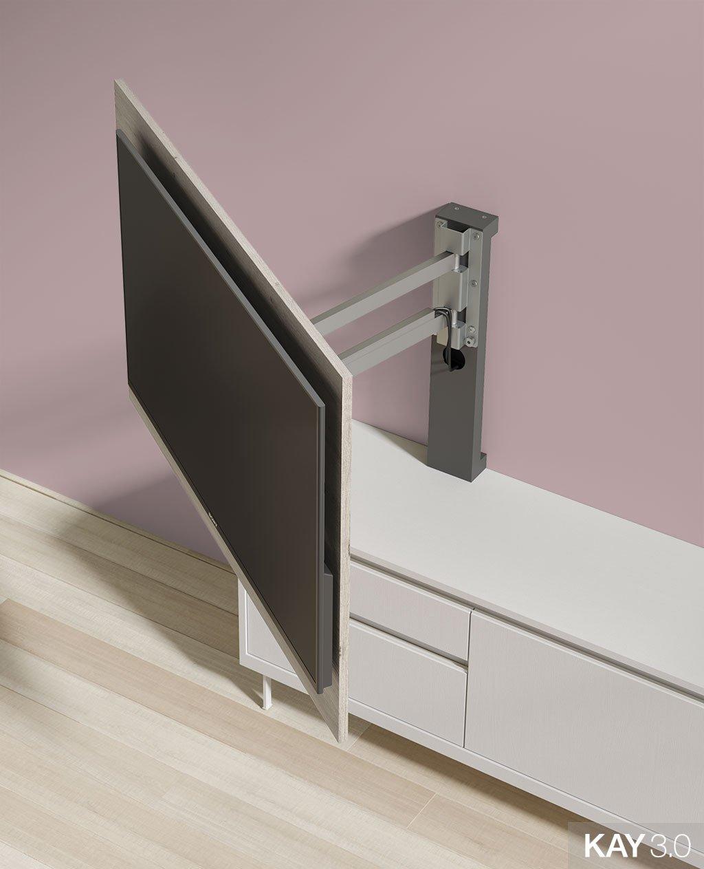 Panel TV giratorio modelo 101 extendido del catálogo KAY 3.0