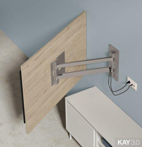 Panel TV giratorio modelo 115 extendido del catálogo KAY 3.0