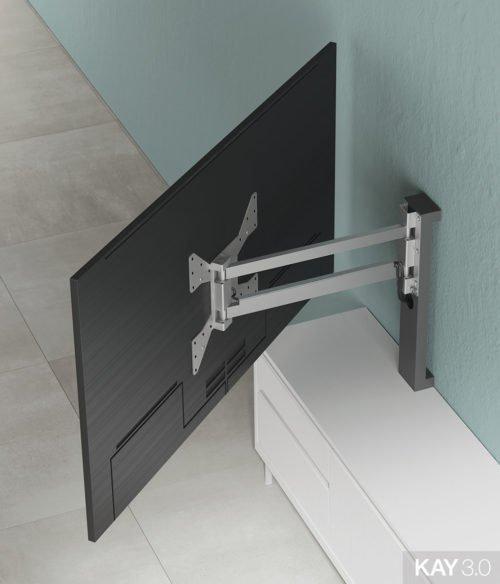 Panel TV giratorio modelo 120 extendido del catálogo KAY 3.0