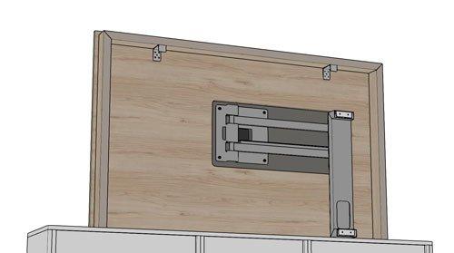 Imagen de la parte trasera del panel TV 105 de 165cm