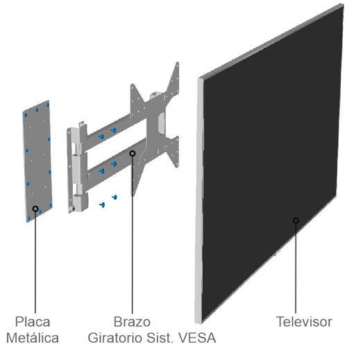 Diferentes piezas componen el panel TV 121