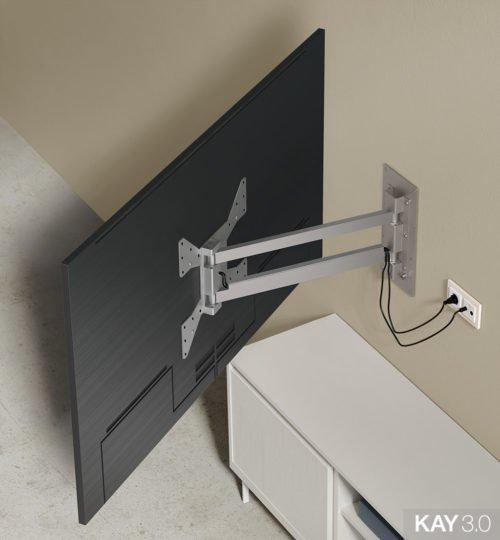 Soporte TV giratorio modelo 121 extendido del catálogo KAY 3.0