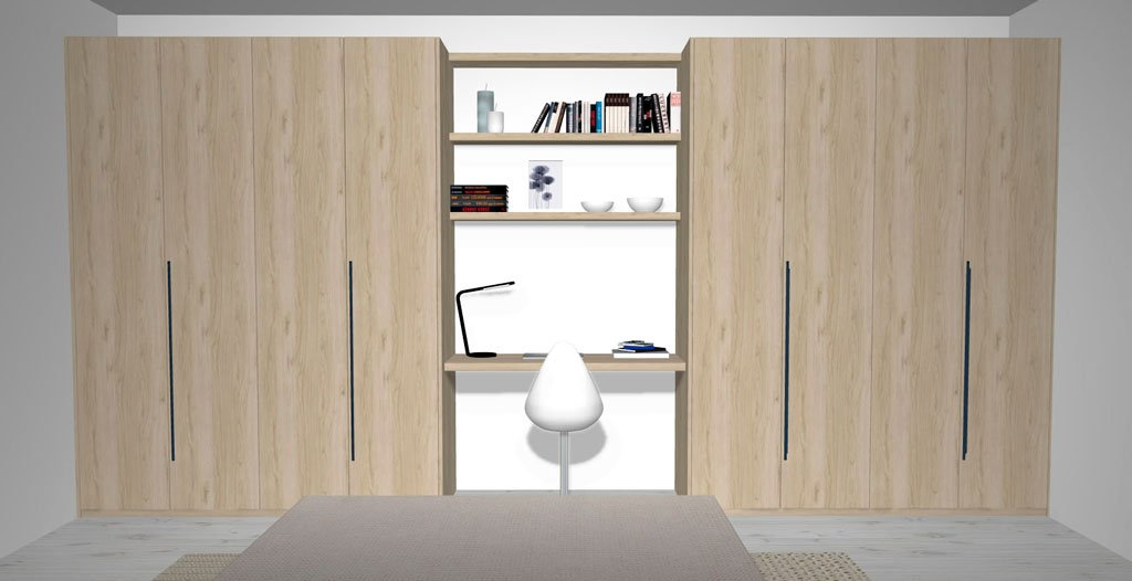 Dos armarios puertas batientes en el dormitorio matrimonio