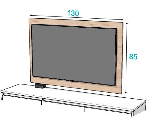 Las medidas del panel TV Free-standing
