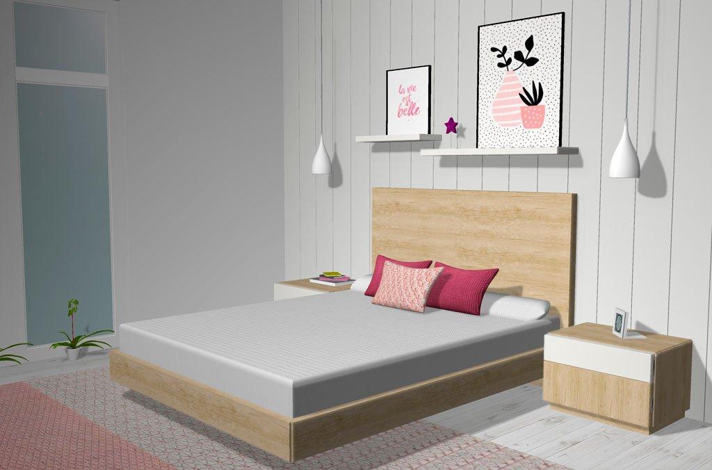 Aro cama suspendido como mueble principal