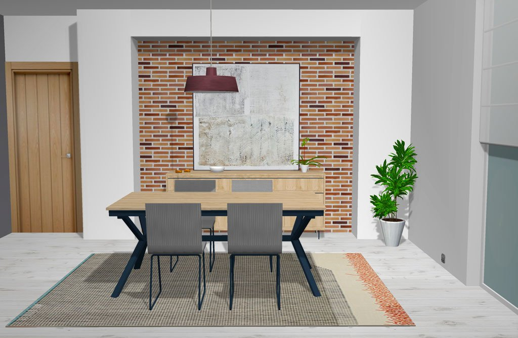Salón comedor de diseño contemporáneo