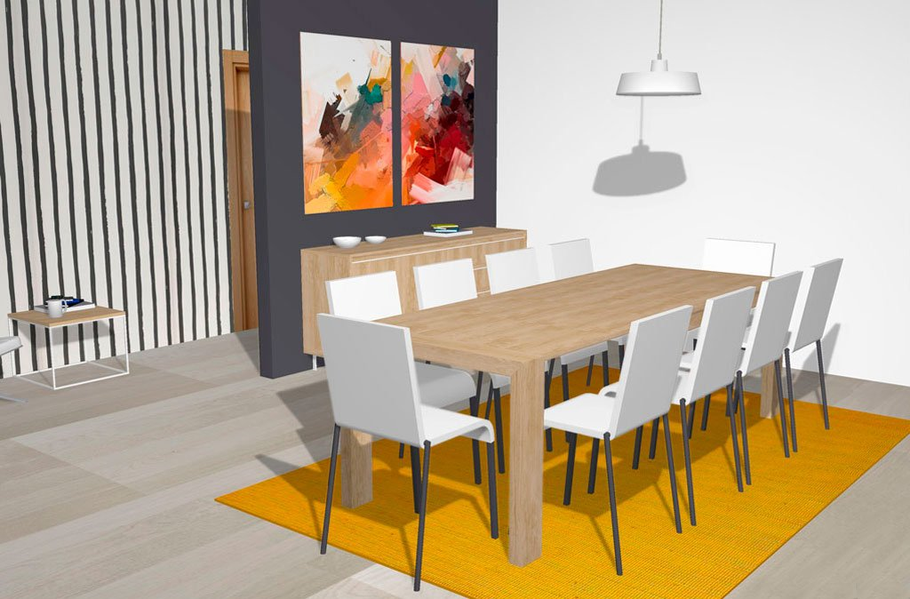 Mesa de comedor extensible para grandes celebraciones
