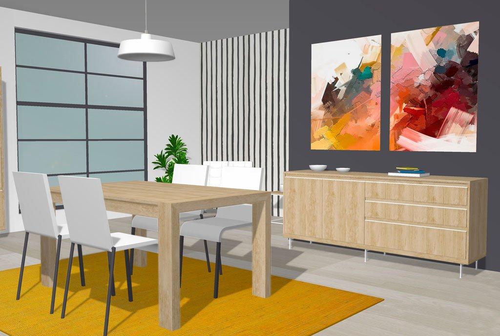 Mesa comedor para un salón comedor moderno