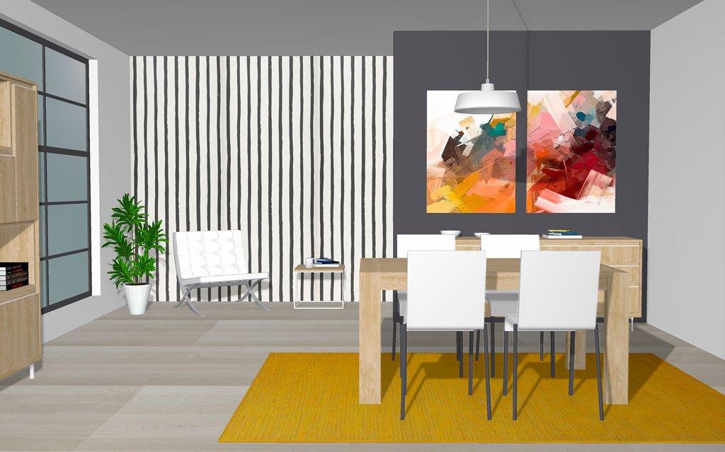 Zona de relax con una mesa de centro sencilla